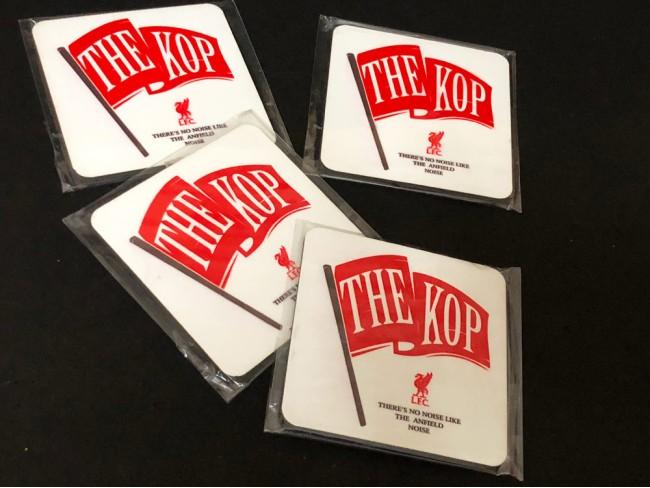 Kop Flag Coasters - Set Of 4