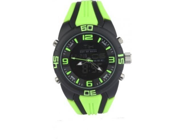 LFC Analog-Digital Watch- Apple Green