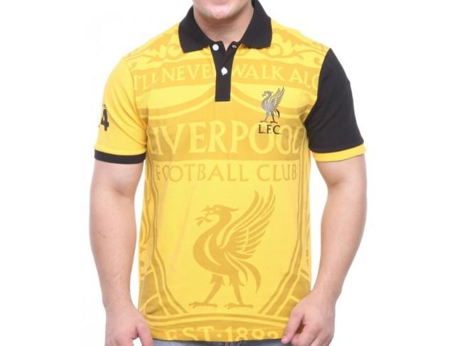 Collar Print Polo - Yellow