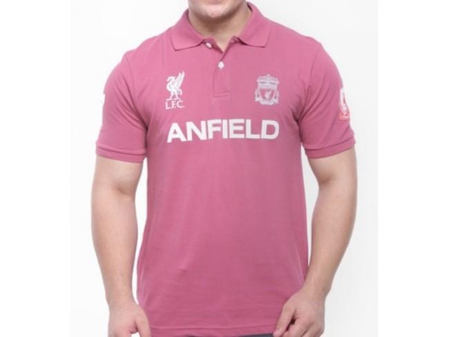 Anfield Crest Polo-Cinamon