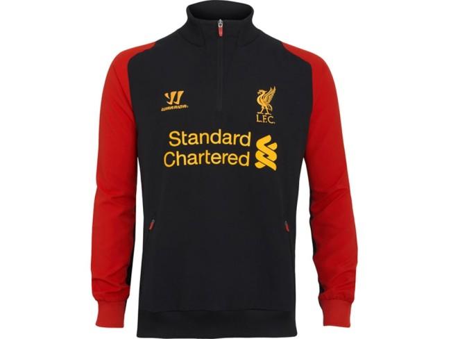 Liverpool FC Training 1/2 Zip Top - Black